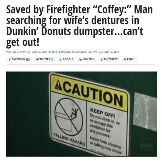 Dunkin' Donuts Dumpster